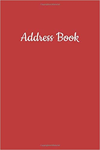 Address Book: Contact Book For Addresses, Phone Numbers, Birthdays, Notes,  Journal Notebook, Organizer Red Cover: Smith, Marie Ashley: 9781797085548:  Books - Amazon.ca