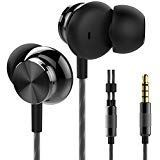 Betron BS10 Earphones Headphones, Powerful Bass Driven Sound, 12mm Large Drivers, Ergonomic Design, Black