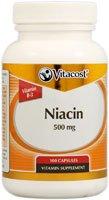 Vitacost Niacin (Vitamin B-3) – 500 mg – 100 Capsules