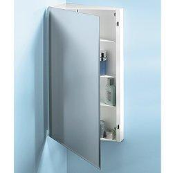Jensen 867P30WH Corner Medicine Cabinet With Beveled Mirror, 16 Inch By  30 Inch