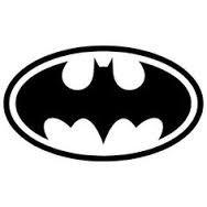 "Batman Logo (2 PACK) Superhero Comics Vinyl Decal Sticker BLACK Cars Trucks SUV Laptops Wall Art Tool Box 5.5"" X 2.5"" CGS207"