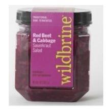 Wildbrine Red Beet and Red Cabbage Sauerkraut Salad, 18 Ounce - 6 per case.