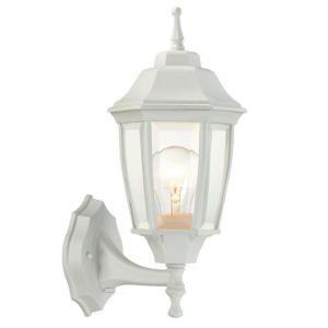 White 1 Light Outdoor Dusk To 14.5