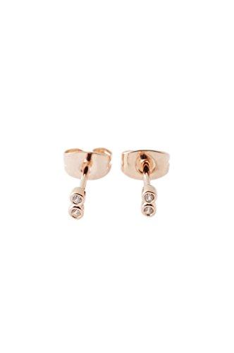 Crystal Stud Earrings in 18k Rose Gold Plate | Minimalist, Delicate Jewelry (Rose Gold) ()