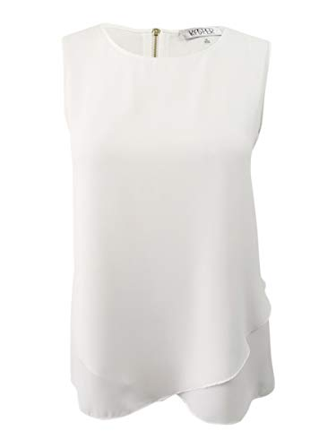 Kasper Womens Plus Office Layered Pullover Top White - Sleeveless X 1 1