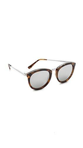 Le Specs Women's No Smirking Sunglasses, Milky Tort/Silver Revo Mirror, One ()