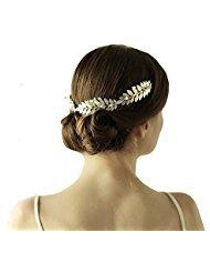 Griego hoja de plata diadema Tiara oumoutm romano para corona de boda accesorios  para el pelo c965530ae4eb