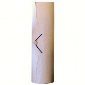 Bella Vita BVCBOX1SCROLL Wooden Single Wine Box with Scroll (Birch Natural Hutch)