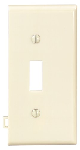 Sectional Nylon Wall Plate (Leviton PSE1-I 1-Gang Toggle Device Switch Wallplate, Sectional, Thermoplastic Nylon, End Panel, Ivory)