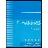 Developing Research Skills : A Laboratory Manual, Christensen, Larry B., 0205327192