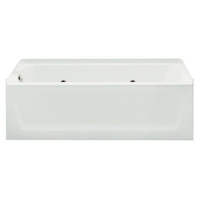 Sterling 76121110-0 Ensemble 60-in x 32-in 8-Jet Whirlpool Bath, Left-Hand Drain, (Almond Removable Apron)