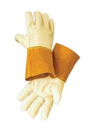 Radnor Glove Mig/Tig Premium Grain Cowhide 4'' Cuff Reinforced Thumb Russet Size X-Large -1 Dozen Pairs