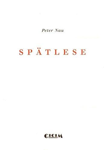Spätlese (Revue CICIM)