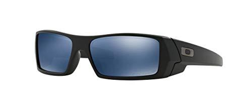 (Oakley Gascan Men's Polarized Lifestyle Designer Sunglasses - Matte Black/Ice Iridium/One Size Fits All)