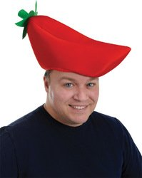 Plush Chili Pepper Hat (Sold by 1 pack of 3 items) PROD-ID : 1926189 (Chili Pepper Hat)