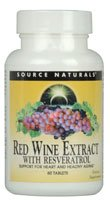 Red Wine Extract With Resveratrol - Source Naturals, Inc. - 60 - Tablet Red Wine Antioxidant