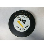 Signed Jagr, Jaromir (Pittsburgh Penguins) Hockey Puck. Includes ticket stub from signing. autographed