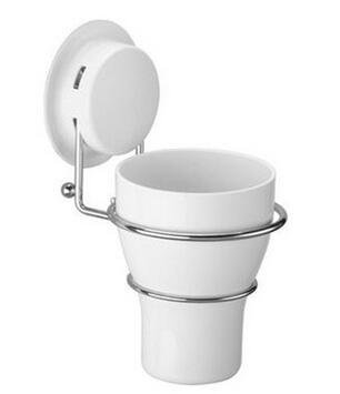Best Quality - Bathroom Accessories Sets wall toothbrush holder set with 2 tooth brush mug white plastic Storage Cup decorative for bathroom accessories - by LINAE - 1 PCs
