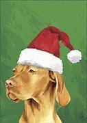 Vizsla Santa Hat Dog Breed Flag 12'' x 18