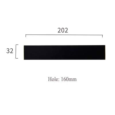 C1394160 3 color Modern Minimalist Fashion Invisible Kitchen Cabinet Door Handles for Furniture Cabinet Drawer Handle 96mm224mm  (color  C1399128)