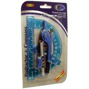 DDI - Protractor + Compass - 2 pack - assorted colors (1 pack of 48 items)