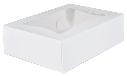 Southern Champion Tray 24263 Paperboard White Window Bakery Box, 14