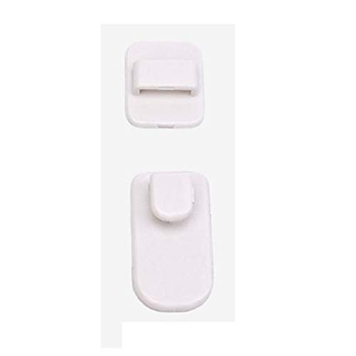 goalBY Plastic Hooks 2 pair (4Pcs) Sticky Set TV Air Conditioner Remote Control Hanger (White)