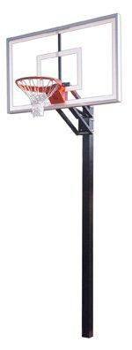 最初チームChamp Nitro steel-glass in ground調整可能バスケットボールsystem44、ゴールド B01HC0AXMK