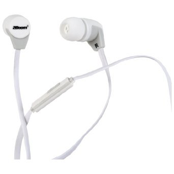 2BOOM Next Pod Wired Earbuds with Microphone and Volume Control White