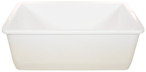 - Fine Fixtures' FC2818UW Single Bowl Undermount Fireclay Kitchen Sink - White. (30 Inch)
