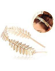 UEETEK Roman Goddess Headband Leaf Bridal Hairband Crown -