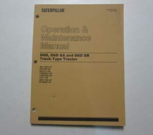 (Caterpillar D6D D6D SA & D6D SR Track-Type Tractor Operation Maintenance Manual)