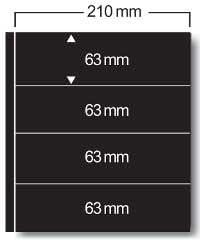 SAFE 424 Clipfix-Einsteckbl/ätter f/ür Compact A4