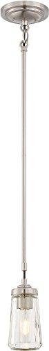 (Minka Lavery 3301-84 Poleis Mini Pendant Ceiling Lighting, 1-Light, 60 Watt, Brushed Nickel )