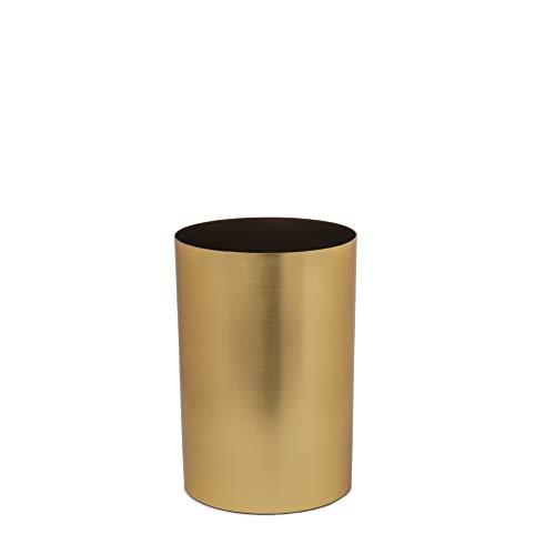 (Umbra Metalla 4.5-Gallon Trash Can, Matte Brass )