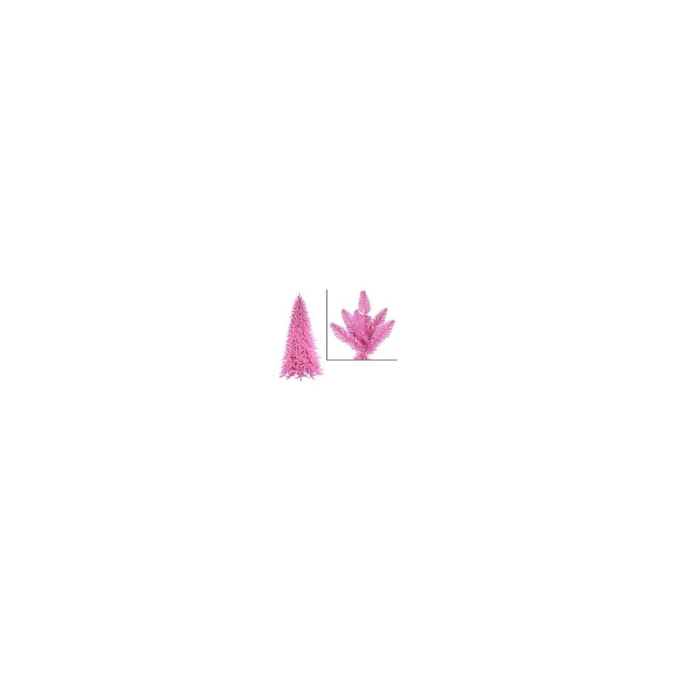 14 Pre Lit Slim Pink Ashley Spruce Christmas Tree   Clear