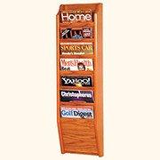 - Wooden Mallet Wood Seven Pocket Magazine Rack