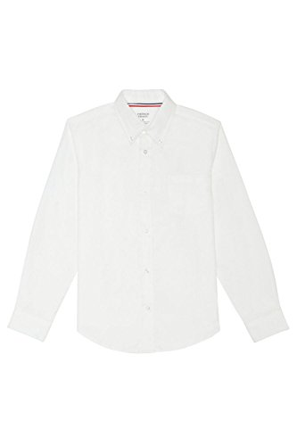 French Toast Big Boys' Long Sleeve Oxford Dress Shirt, White, 12 -
