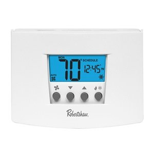 (Robertshaw RS6220 2 Heat/2 Cool Digital 7 Day Programmable Thermostat Heat Pump, Single)