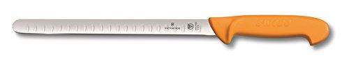 Victorinox Küchenmesser Swibo Tranchiermesser Kullenschliff flex gelb 30 cm Klingenlänge, 5.8444