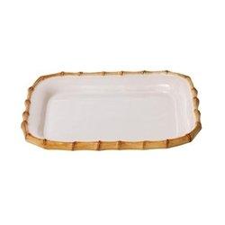 - Juliska Classic Bamboo Sm Rectangular Platter Natural