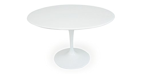 "Kardiel Tulip Style Round Table White Fiberglass, 48"" for sale  Delivered anywhere in USA"