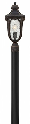 Hinkley 1317MO Transitional One Light Post Top/ Pier Mount from Trafalgar collection in Bronze/Darkfinish,