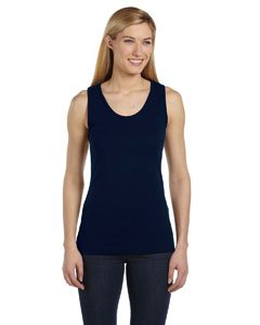 Bella + Canvas 6480 Ladies 5.8 oz. Missy Widestrap Baby Rib Tank Navy Small