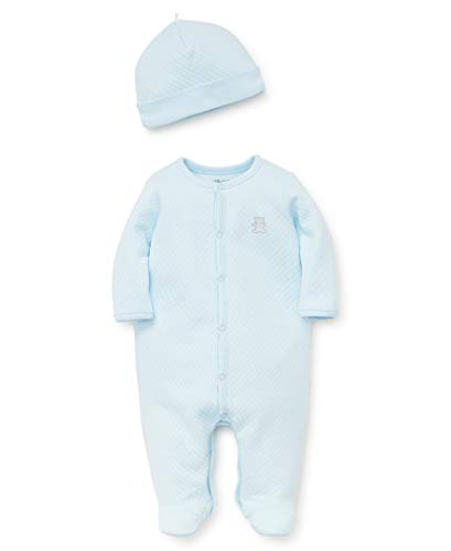 Little Me Baby Boys Footie and Hat, Omphalodes, 3 Months