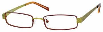 Seventeen 5337 in Brown Lime Designer Reading Glass Frames , Demo Lens