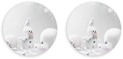 Abrebotellas redondas de estrellas y copos de nieve de muñeco de nieve / imanes de nevera sacacorchos de acero inoxidable pegatina magnética 2 piezas