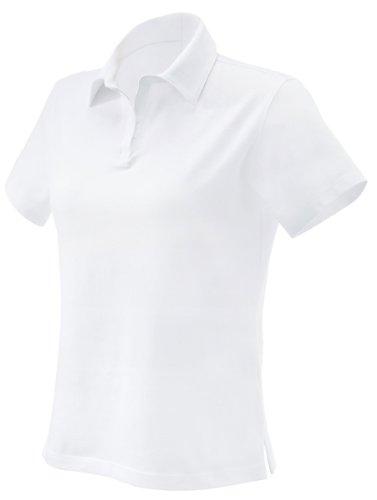 - Devon & Jones Ladies Stretch Jersey Polo - White DP305W XL