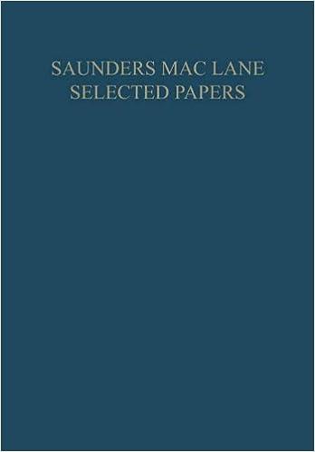 Book Saunders Mac Lane Selected Papers