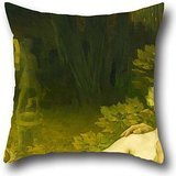 The Oil Painting Vaszary, János - Golden Age Throw Pillow Covers Of ,16 X 16 Inches / 40 By 40 Cm Decoration,gift For Bar,boy Friend,family,festival,father,kitchen (each Side)
